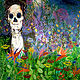 Acrylic painting The cycle of Life and Death by Barb Martel