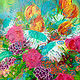 Acrylic painting Birthday Spring Flowers from Mom by Barb Martel