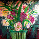 Acrylic painting Spring Flowers in Vase by Barb Martel