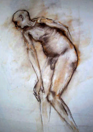 life drawing in pastels by Darcy Martel