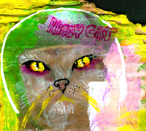 hissy cat collage by Barb Martel