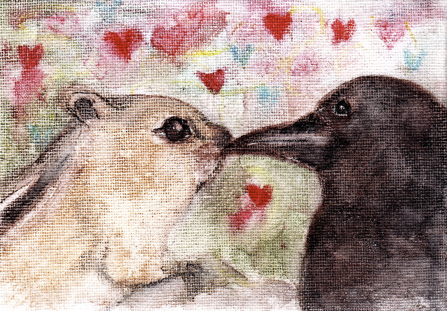crow and chipmunk by Barb Martel