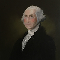 Oil painting Repoduction of Gilbert Stuart's portrait of George Washington  by Frank Kusch