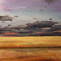 Mixed-media artwork Section Township Range by Steve Latimer