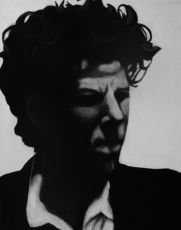 Acrylic painting Tom Waits by Elizabeth Mercer