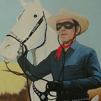 Acrylic painting The Lone Ranger by Elizabeth Mercer