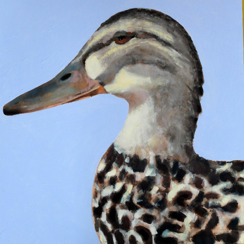Oil painting The Mr. + Mrs : Duck, 2016   by Edith dora Rey