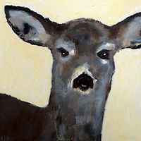 Oil painting Vale Perkins Deer, 2016 by Edith dora Rey