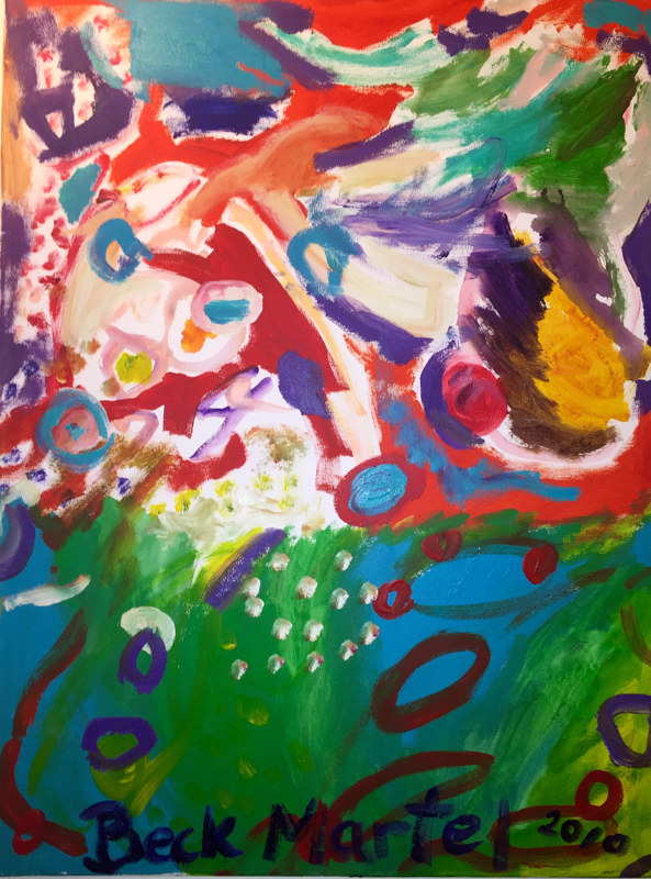Acrylic painting my oldest son and i painted this when he was 5 years old by Darcy Martel