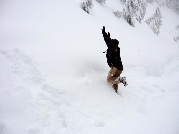 me, jumping in the snow ... snow way man! by Darcy Martel