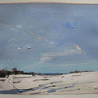 Acrylic painting April Snow by Harry Stooshinoff