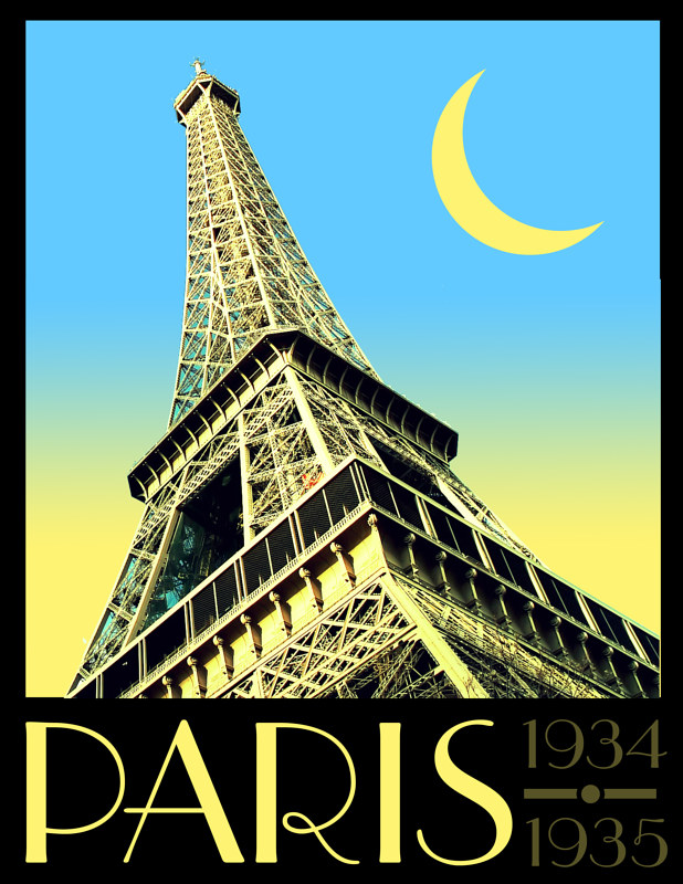 Paris poster by Stephen Plunkett