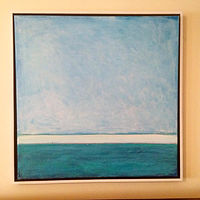 Acrylic painting Blue Horizon II by Sarah Trundle