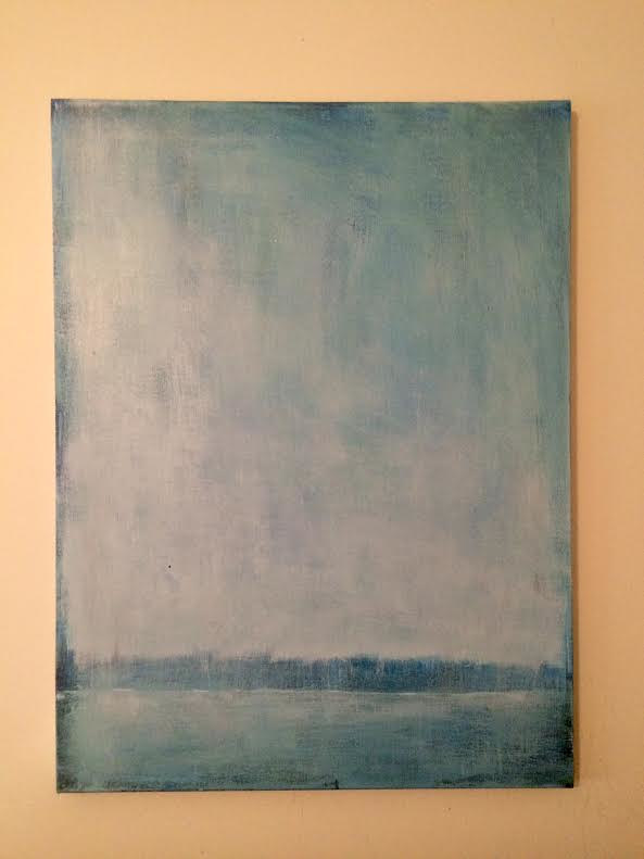 Acrylic painting Landscape in Blues by Sarah Trundle