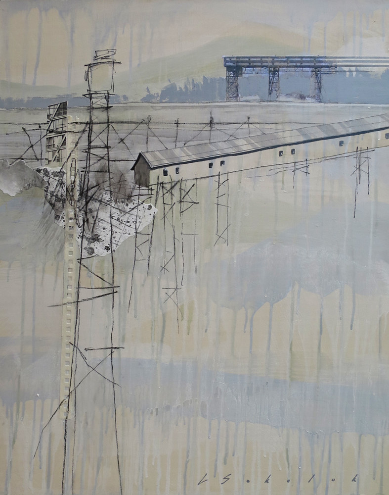 Mixed-media artwork Looking For A Vantage Point by Lori Sokoluk