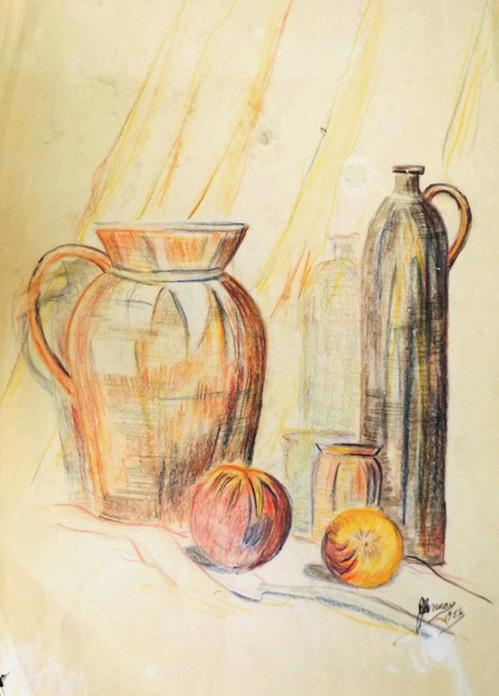 Print Still life 1956 by David Neace