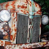Painting Old Tractor by David Neace