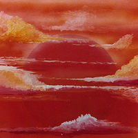 Acrylic painting SUNSET  by David Neace