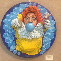 Bubbles the Clown by Valerie Buttler