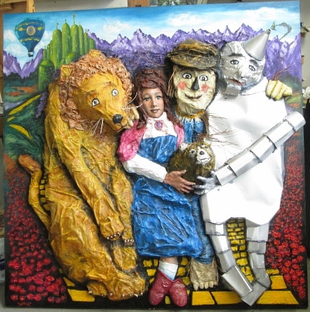 Mixed-media artwork Wizard of Oz by Ron Buttler