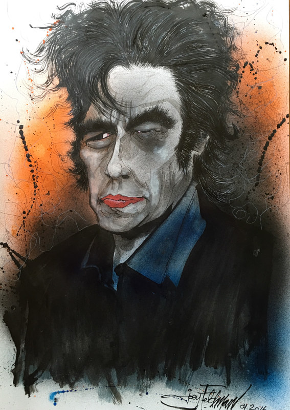 Drawing benicio del toro by Joey Feldman