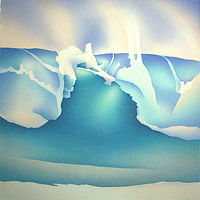 Watercolor Shorebreak by Anne Popperwell