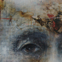 Mixed-media artwork The Edges of Time by Liba Labik
