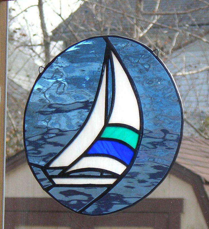Blue and green spinnaker by John Boyd