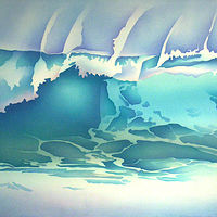 Watercolor Seaspray  by Anne Popperwell