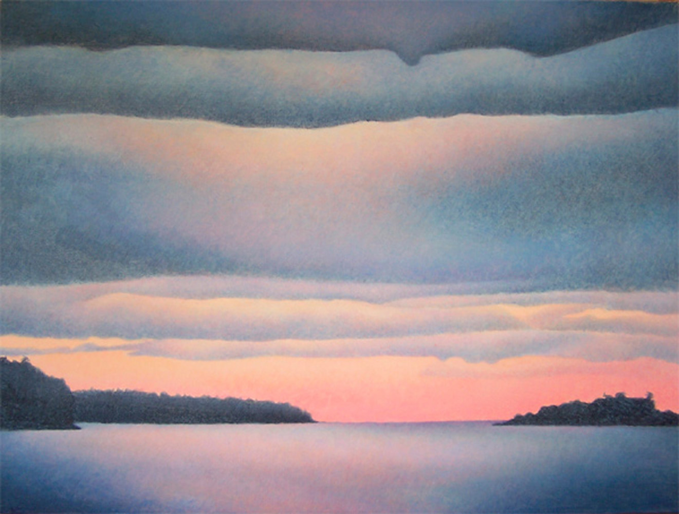 Acrylic painting Winter Twilight by Anne Popperwell