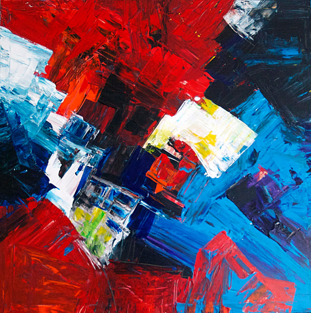 Acrylic painting Indestructible by Nathalie Gribinski