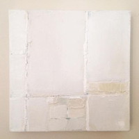 Mixed-media artwork A Vision in Whites by Sarah Trundle
