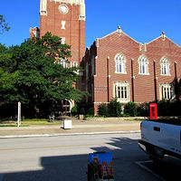 Painting OU's Memorial Union by Larry Carter