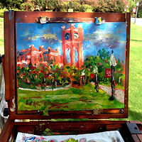 Painting OU's Library by Larry Carter