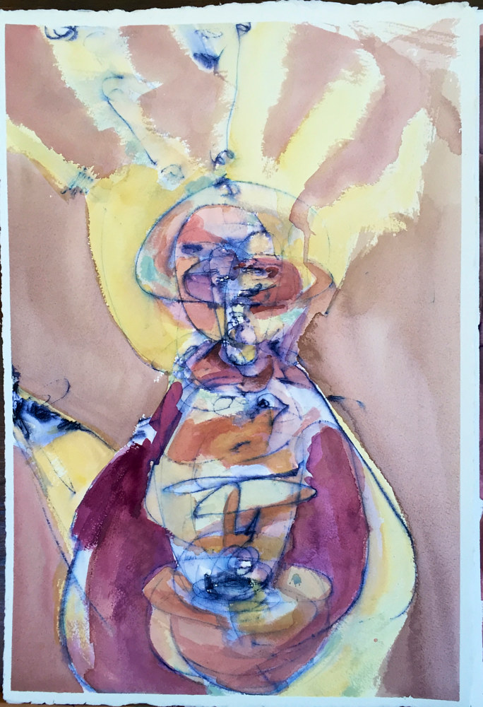 Watercolor Jean Baptist by Jonathan  Hertzel
