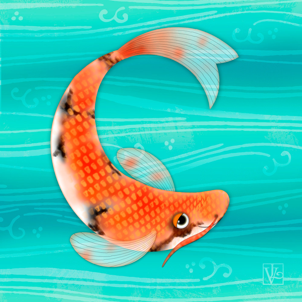 C is for Cal the Curious Carp by Valerie Lesiak