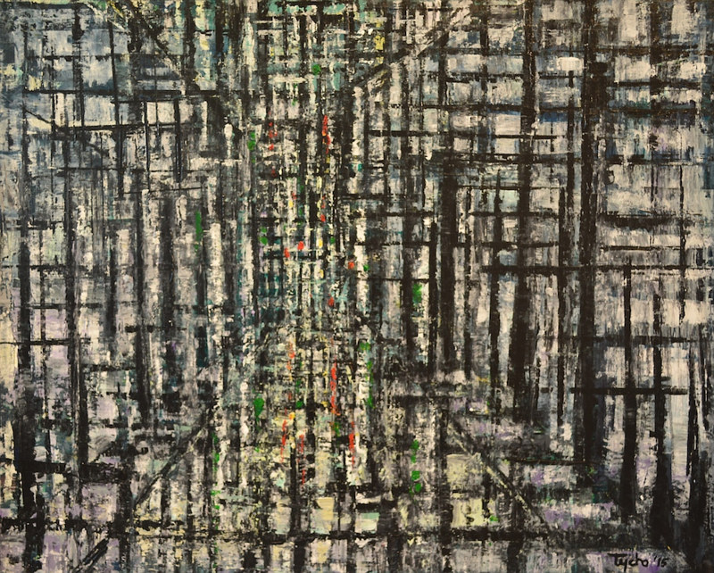 Acrylic painting Urban Matrix #9 by David Tycho