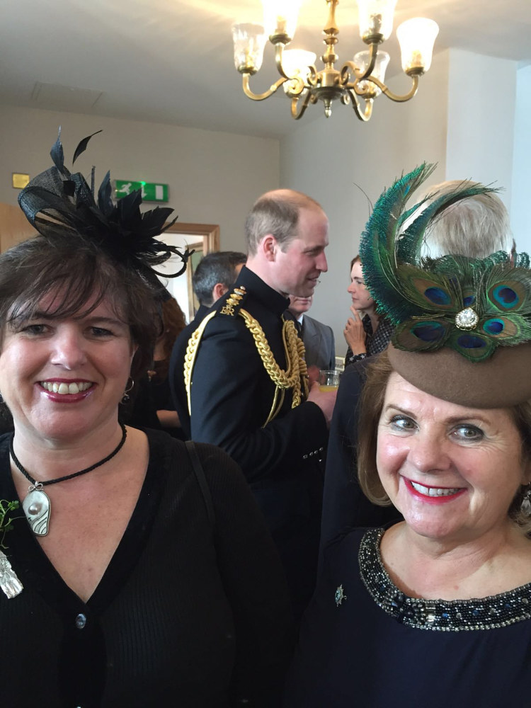 Erin in 'Peacock' photobombed by HRH by Fiona Menzies