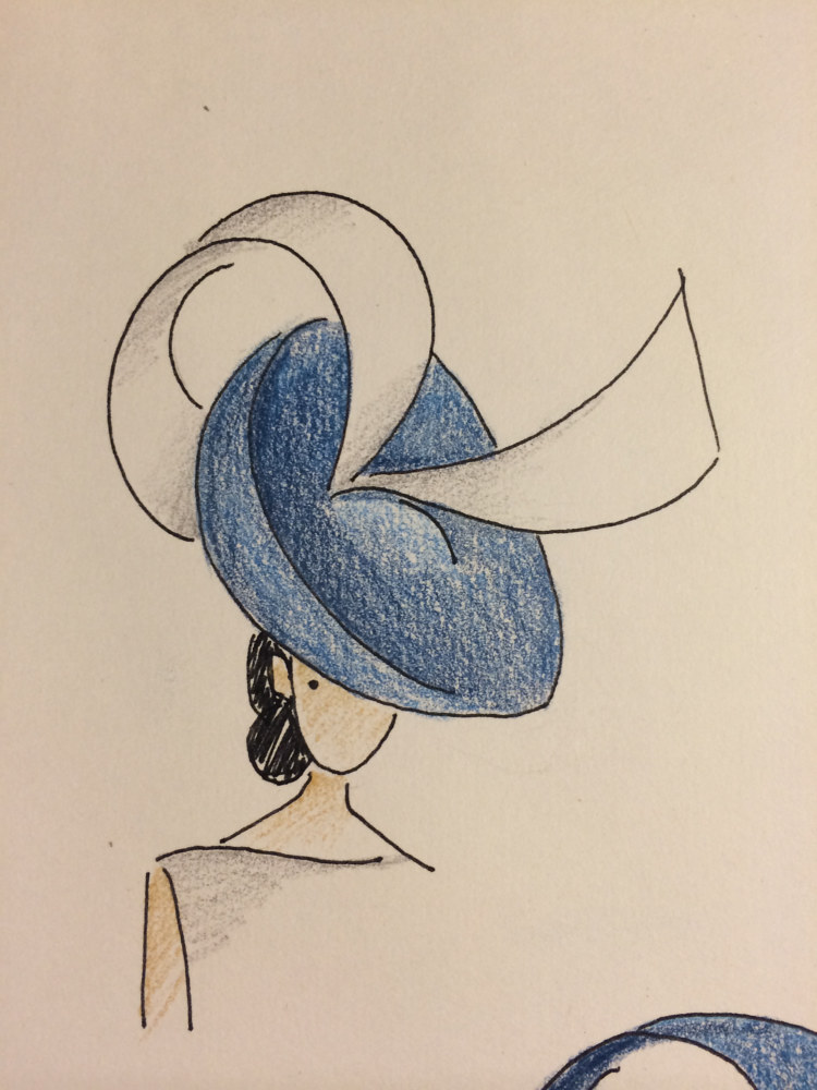 Sketches for 'R' hat by Fiona Menzies