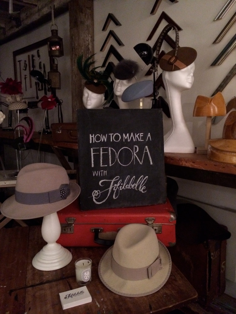 Fedora hat making workshop by Fiona Menzies