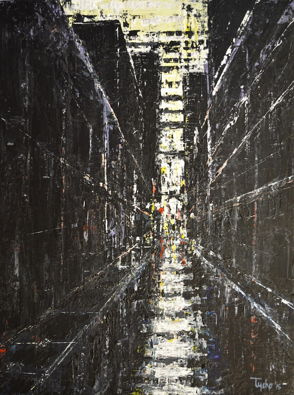 Acrylic painting Urban Composition #1 by David Tycho