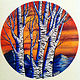 Aspen Sunset  - Painting on Vinyl Record by Mr Mizu by Isaac Carpenter