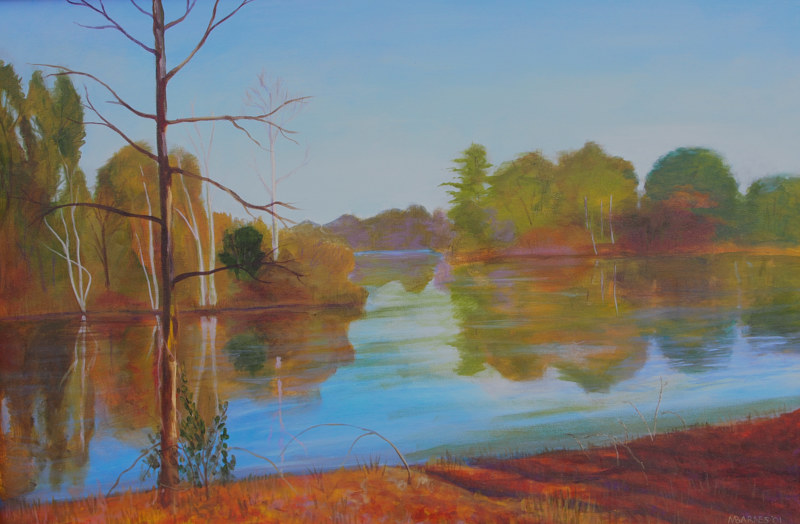 Acrylic painting Lake Joyce by Michele Barnes