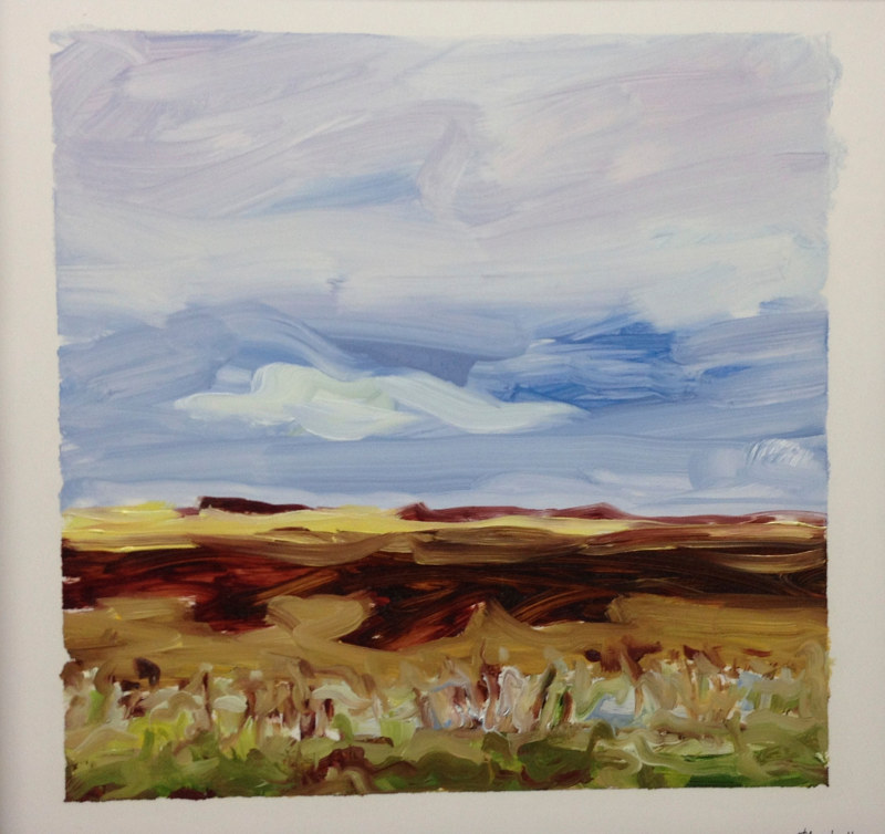 Oil painting Prairie Suite #8 by Edie Marshall