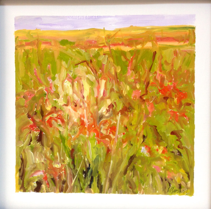 Oil painting Forage #2 by Edie Marshall