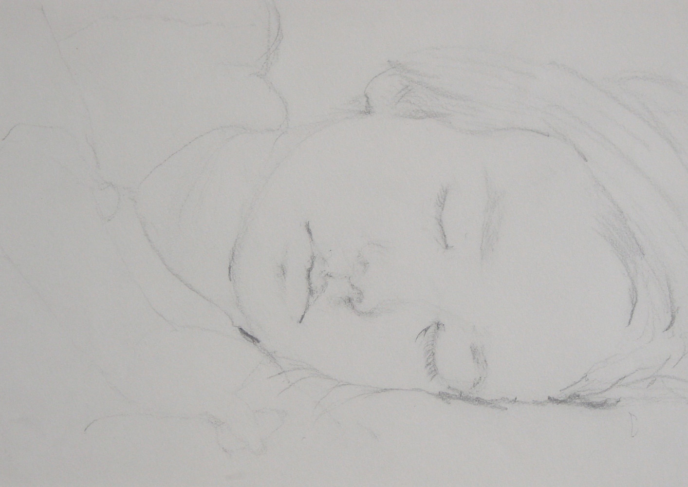 Drawing Margie Sleeping by Kumiko Buller