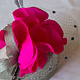 Hot pink and grey veiled percher by Fiona Menzies