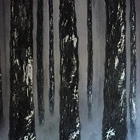 Acrylic painting Warrior Trees by Frank Kusch