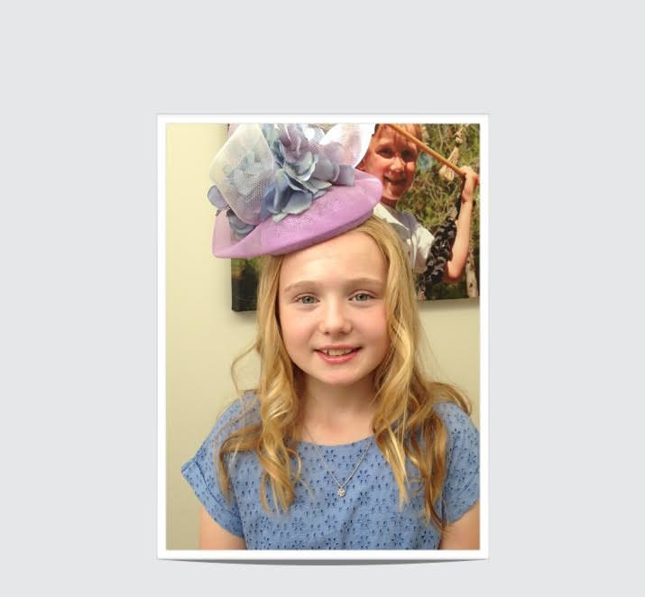 A little lady off to Ascot! by Fiona Menzies