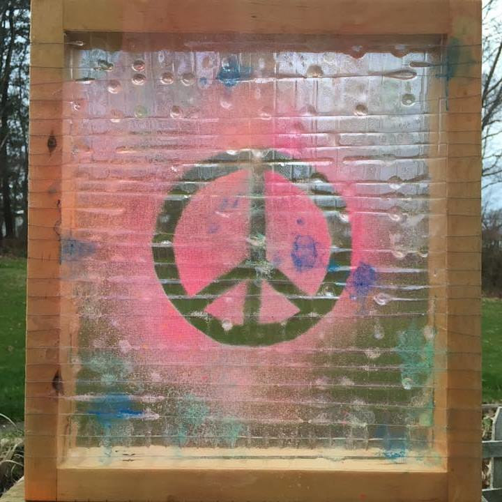 Acrylic painting RepurPeace by Steven Simmons